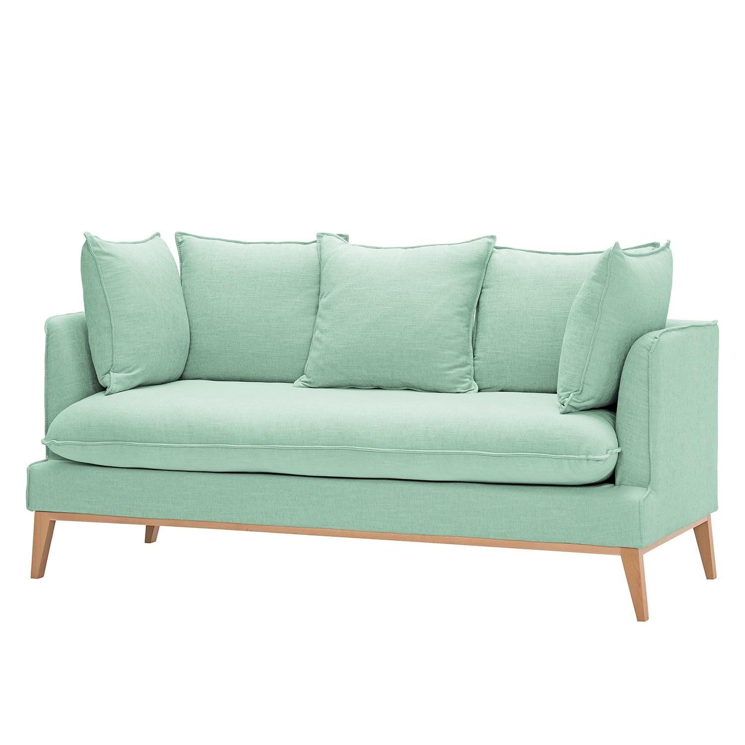 sofa nelson 3 sitzer webstoff stoff dona mintgr n morteens kaufen. Black Bedroom Furniture Sets. Home Design Ideas