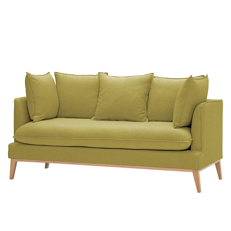 Sofa Sulviken (3-Sitzer) Webstoff - Stoff Mera Olivgrün