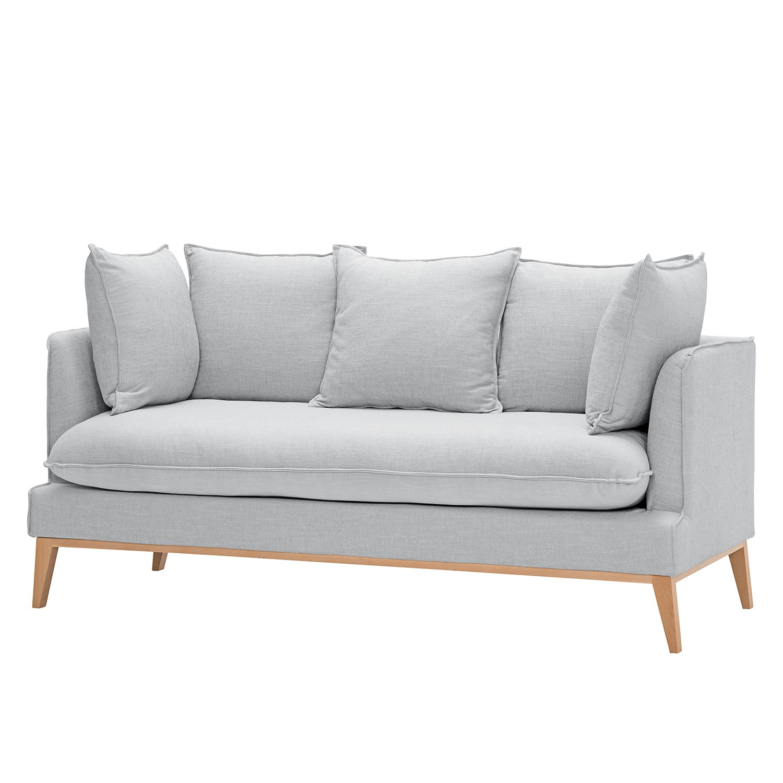 Sofa Sulviken (3-Sitzer) Webstoff - Stoff Dona Silber