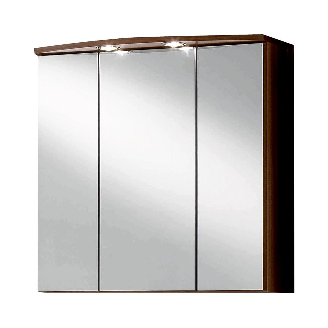 Armadietto pensile a specchio 3D Well-ness - Effetto quercia scura, Giessbach