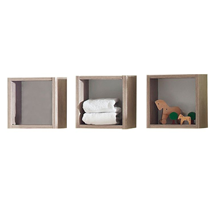 3 delige set hangkasten Berti   eikenhoutkleurig_ Kids Club Collection