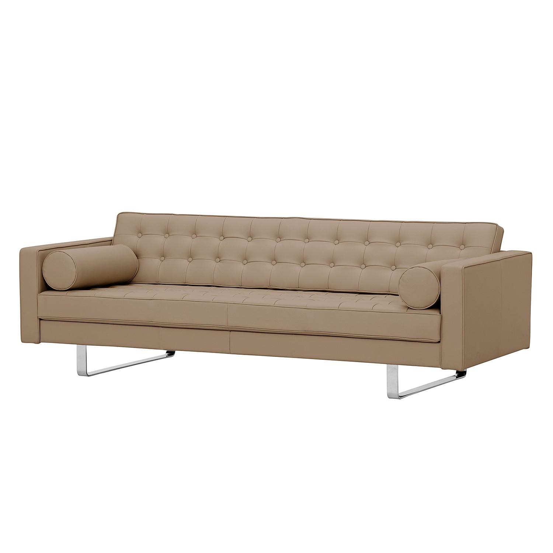sofa chelsea 3 sitzer echtleder kufen echtleder gad taupe online bestellen. Black Bedroom Furniture Sets. Home Design Ideas