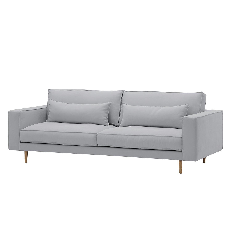 Sofa Lacona (3-Sitzer) Webstoff - Stoff Dona Grau