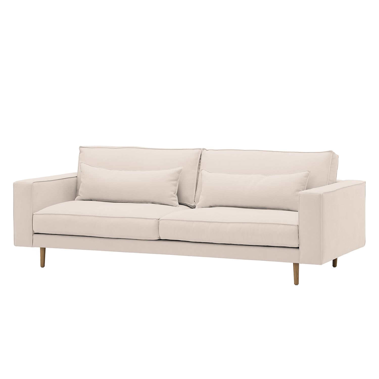 Sofa Lacona (3-Sitzer) - Webstoff - Stoff Mera Hellbeige