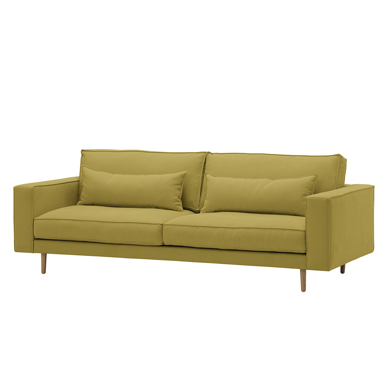 Sofa Lacona (3-Sitzer) Webstoff - Stoff Mera Olivgrün