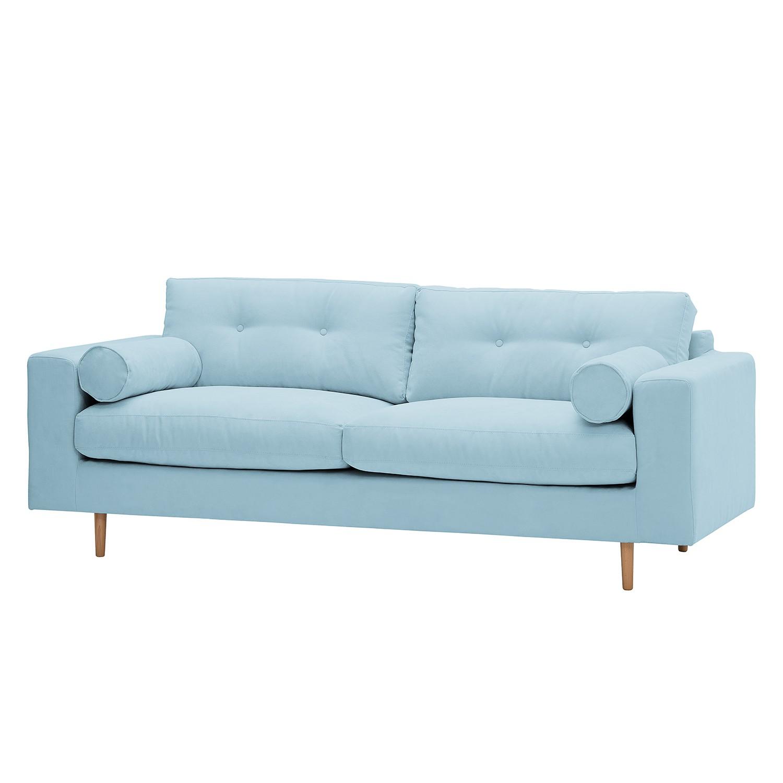 Sofa Marlon (3-Sitzer) Webstoff - Stoff Mera Hellblau