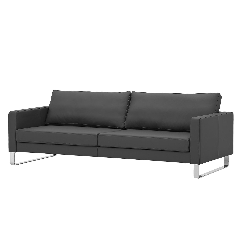 Sofa Portobello (3-Sitzer) Echtleder - Kufen - Echtleder Gad Anthrazit
