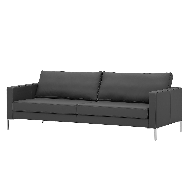Sofa Portobello (3-Sitzer) Echtleder - Eckiger Fuß - Echtleder Gad Anthrazit