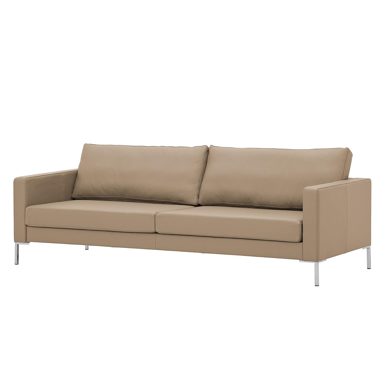 sofa portobello 3 sitzer echtleder eckiger fu echtleder gad taupe g nstig kaufen. Black Bedroom Furniture Sets. Home Design Ideas