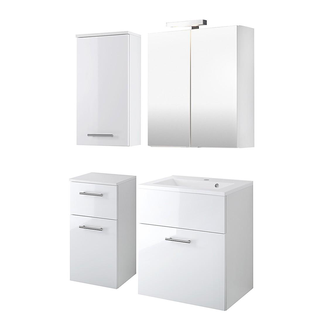 Home 24 - Ensemble de meubles, 4 éléments aqua spa - blanc, giessbach