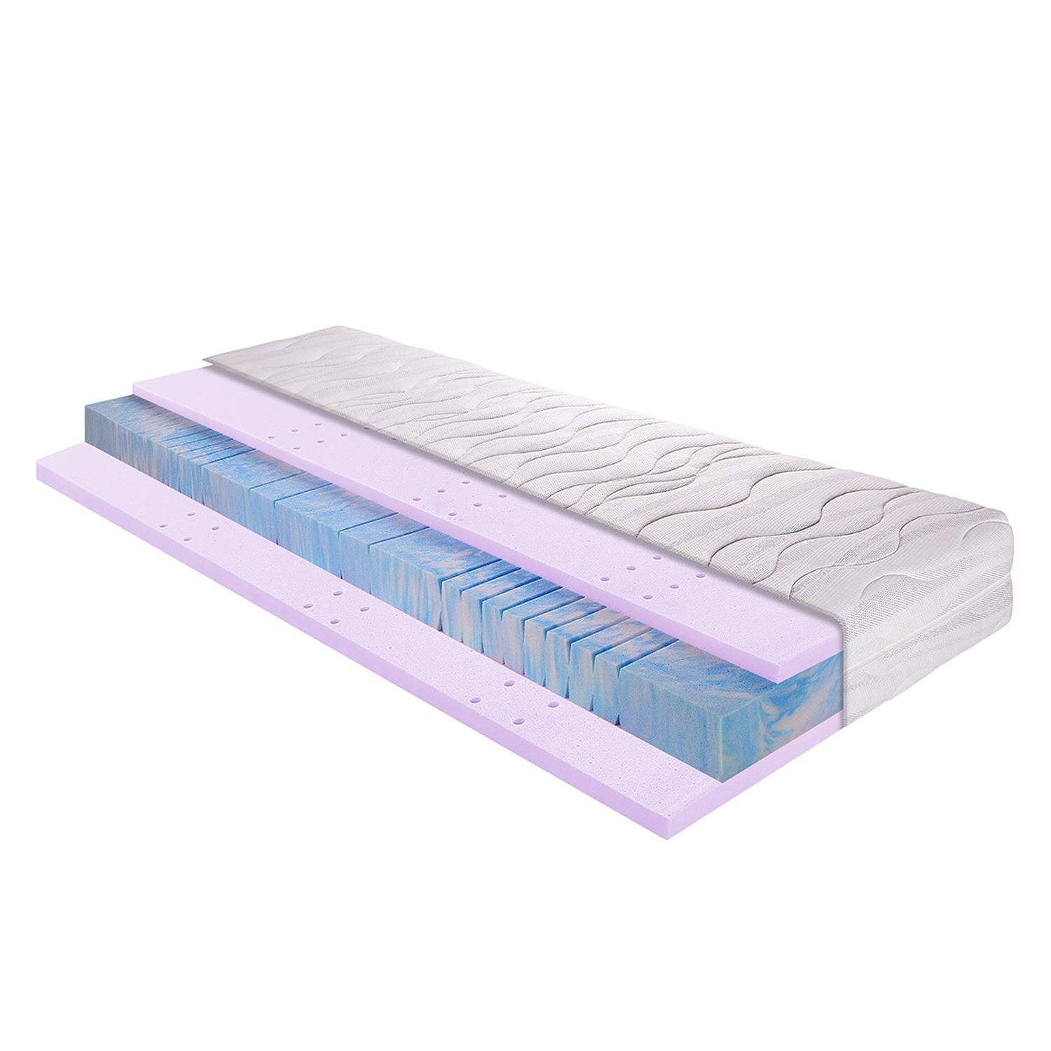 matelas en gel et mousse froide 7 zones sleep gel 3 90 x 200cm d2 jusqu 39 80 kg breckle par. Black Bedroom Furniture Sets. Home Design Ideas