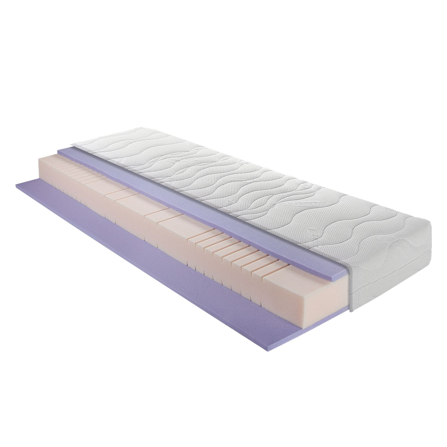 Materasso comfort a 7 zone in schiuma freddo e gel Sleep Gel Basic - 120 x 200cm - H3 da 80 kg, Breckle
