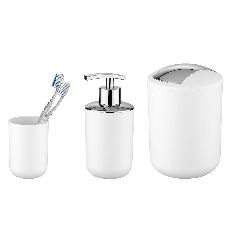 Wenko ensemble de nettoyage empire blanc wenko prix et for Ensemble accessoires salle de bain