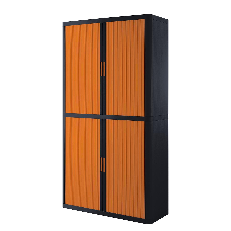 Dossierkast easyOffice - Zwart/oranje - 204cm, easy Office und Paperflow