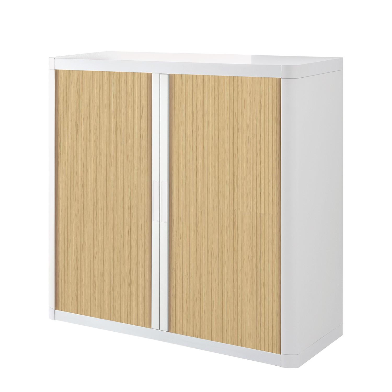 Dossierkast easyOffice - Wit/beukenhout - 104cm, easy Office und Paperflow