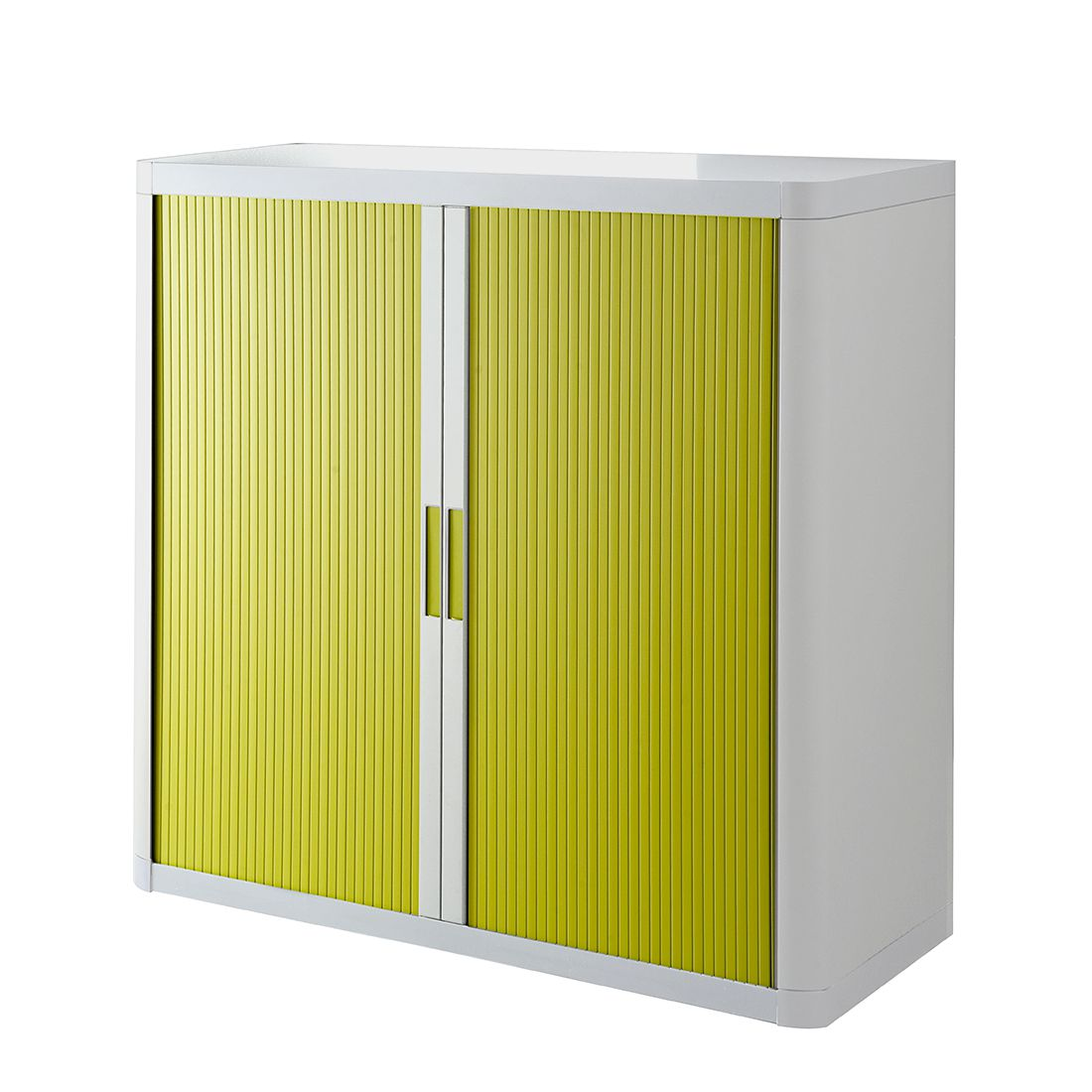 Armadio archivio easyOffice - Bianco / Verde - 104 cm, easy Office und Paperflow