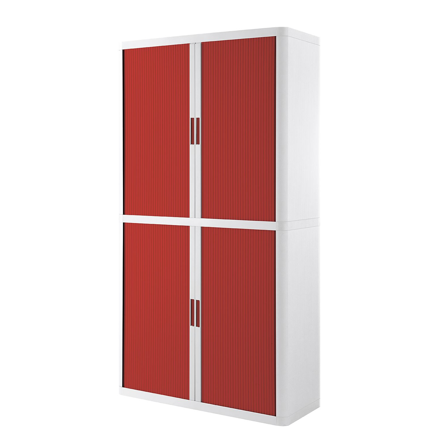 Dossierkast easyOffice - Wit/rood - 204cm, easy Office und Paperflow
