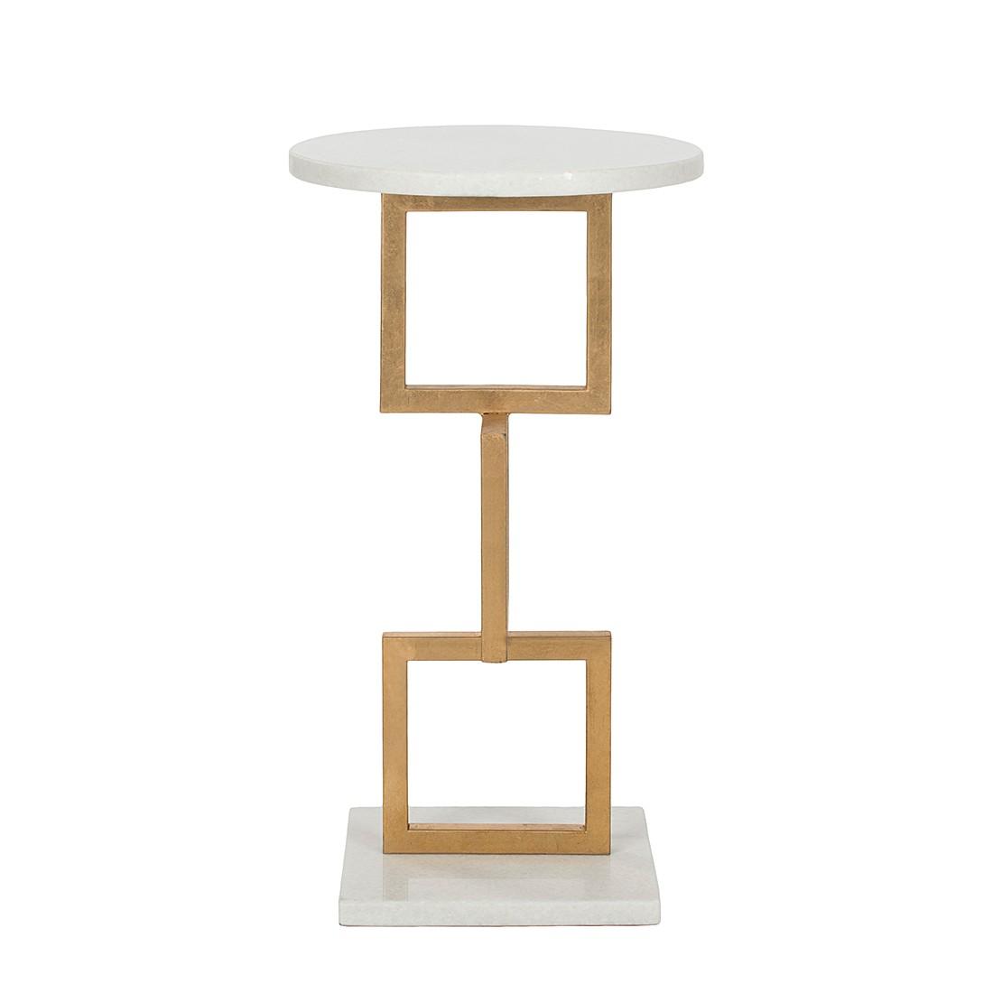 Tavolino Cassidy - Ferro laccato/Marmo bianco, Safavieh
