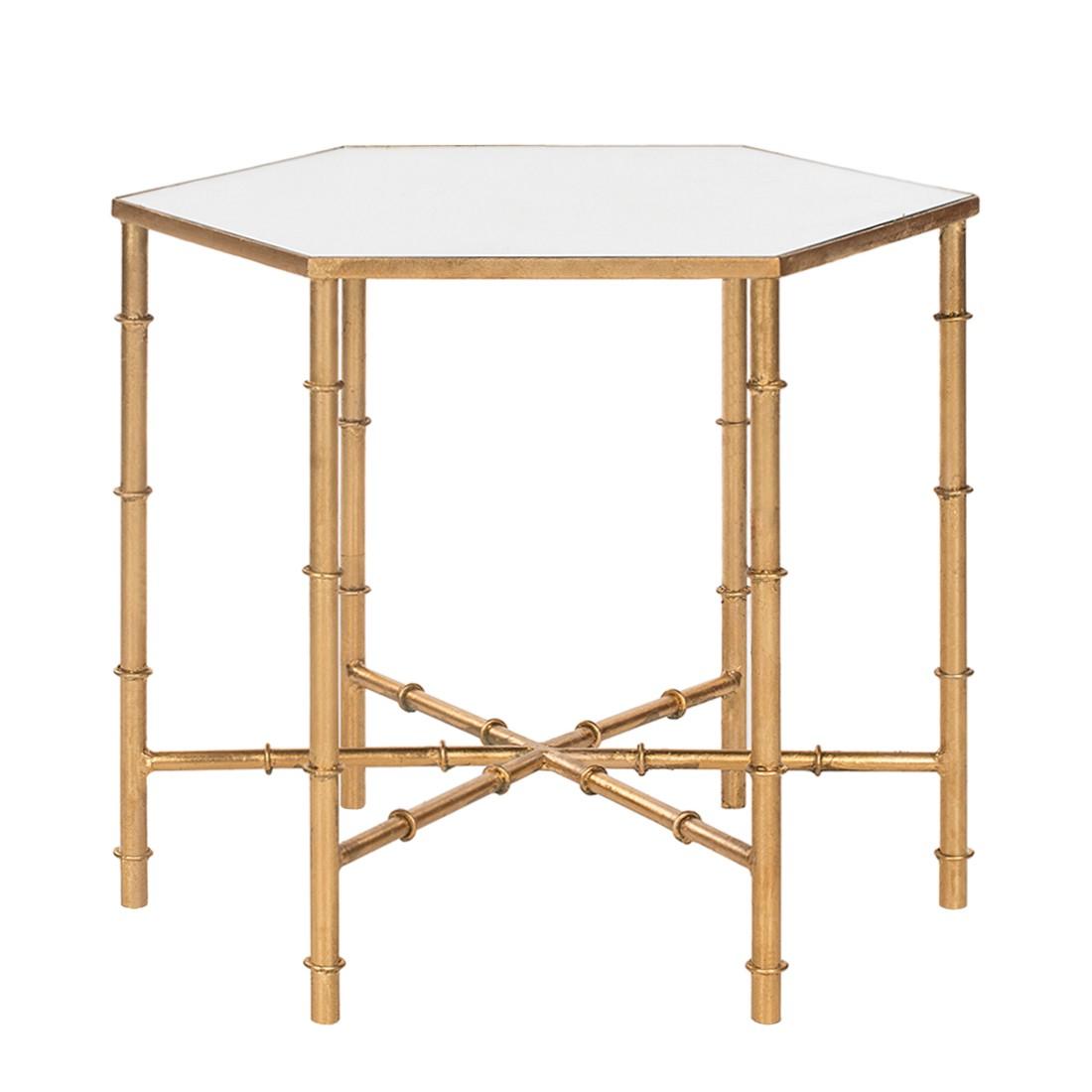 Tavolino Kerri - Ferro - Color oro/Specchio, Safavieh
