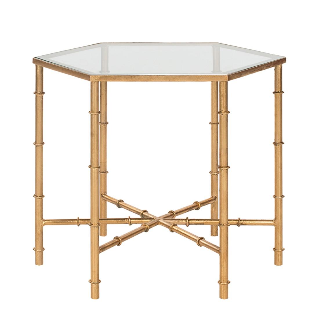 Tavolino Kerri - Ferro - Color oro/Vetro, Safavieh