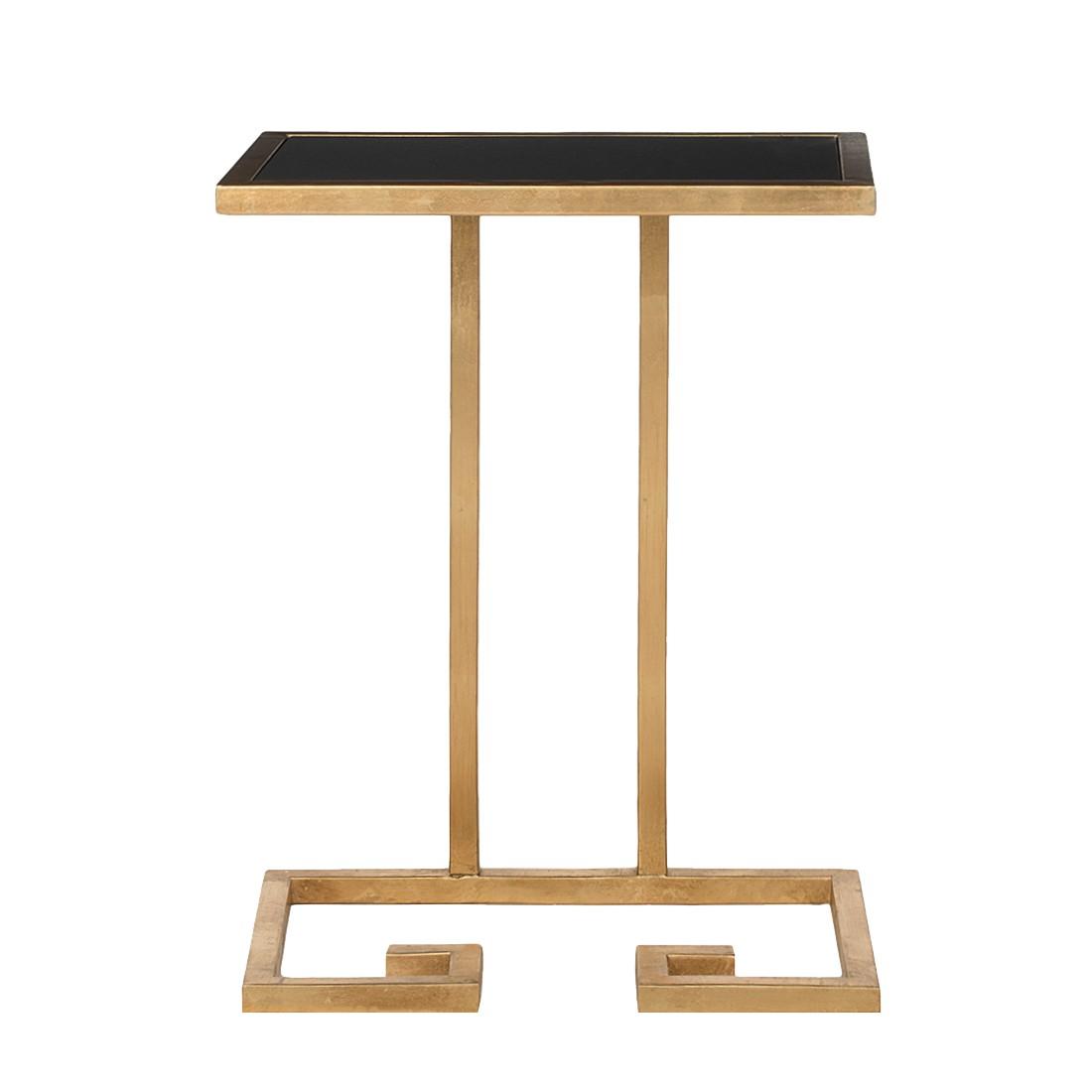 Table d'appoint Murphy - Fer doré / Verre noir, Safavieh