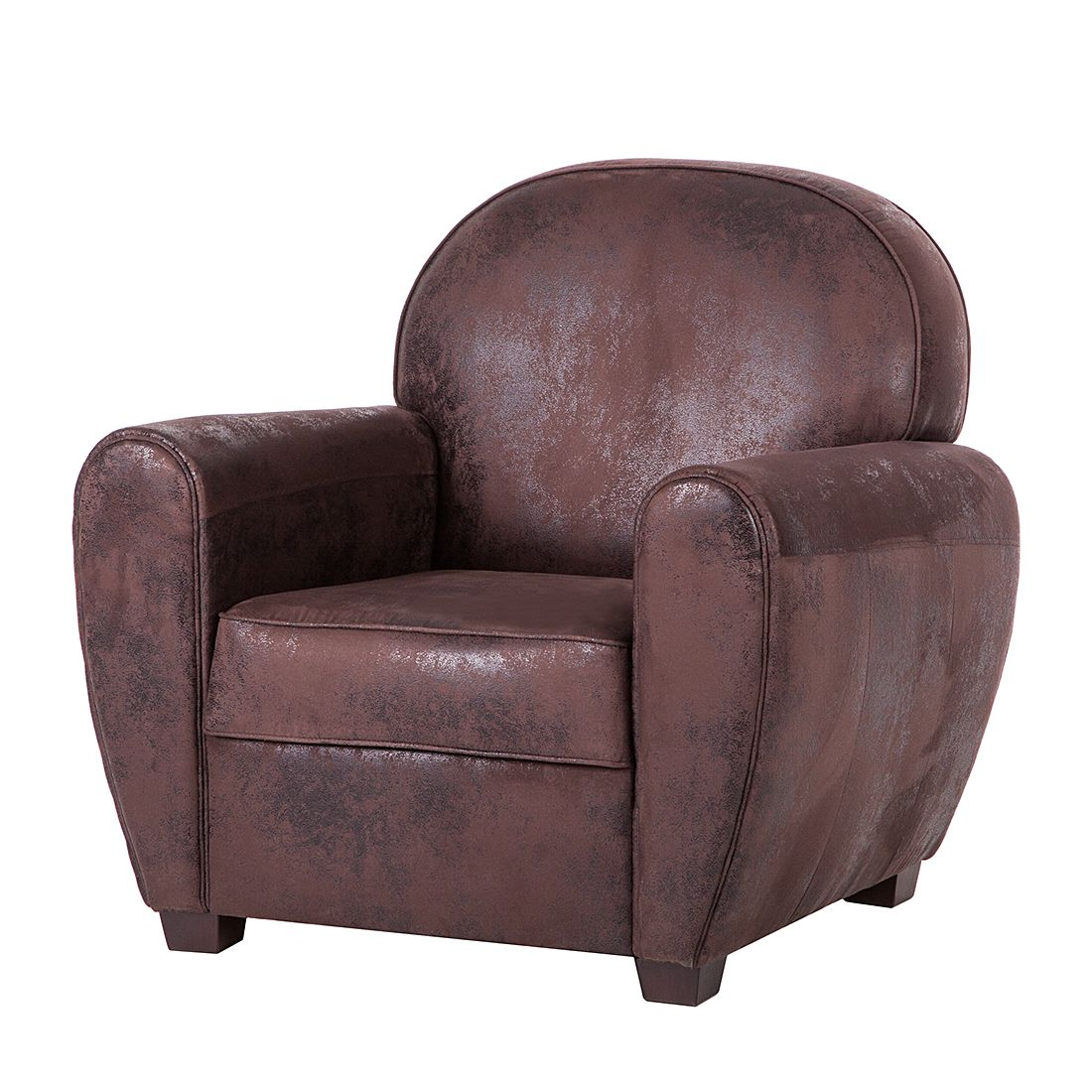 fauteuil havanna cuir synth tique vieilli marron ars manufacti par ars manufacti chez home24 fr. Black Bedroom Furniture Sets. Home Design Ideas
