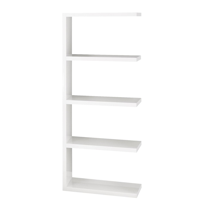 Anbauregal Concept II - Hochglanz Weiß