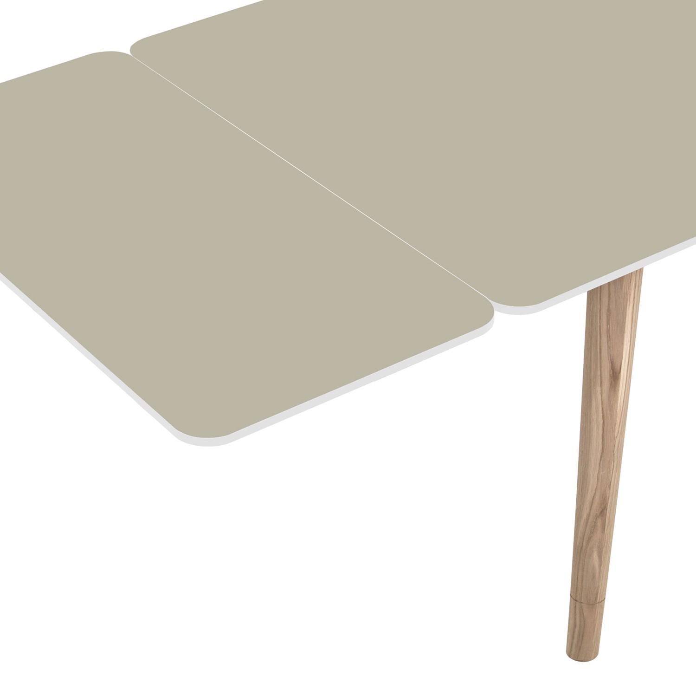 Ansteckplatte Helvig - Grau / Weiß