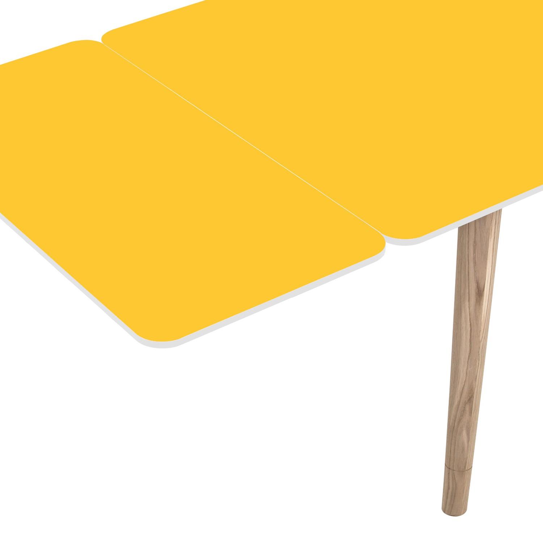 Ansteckplatte Helvig - Gelb / Weiß