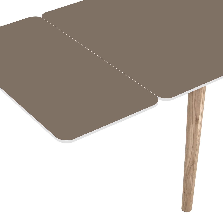 Ansteckplatte Helvig - Taupe / Weiß
