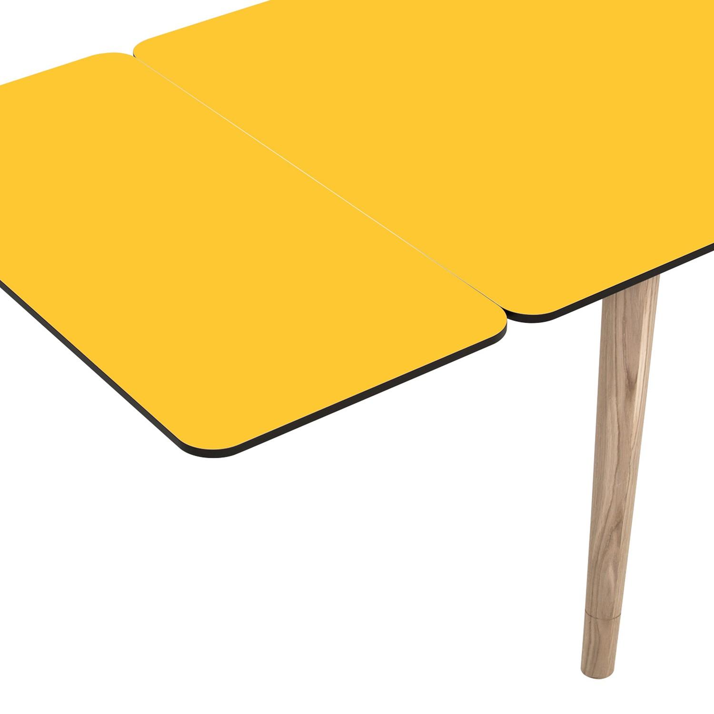 Ansteckplatte Helvig - Gelb / Schwarz