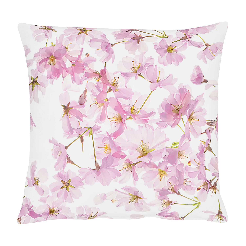 Kussensloop Springtime Cherryblossom - katoen - roze/wit, Apelt