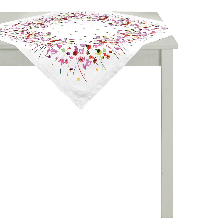 Tafellaken Summer Garden - geweven stof - wit/roze, Apelt