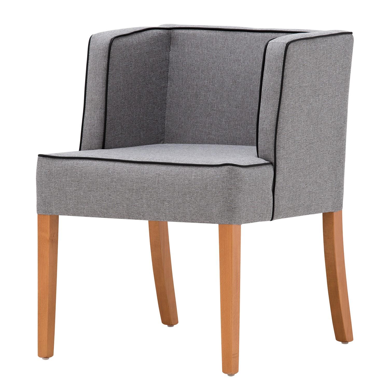 Chaise à accoudoirs Alia - Tissu - Hêtre naturel - Tissu Suria Gris clair, Studio Copenhagen