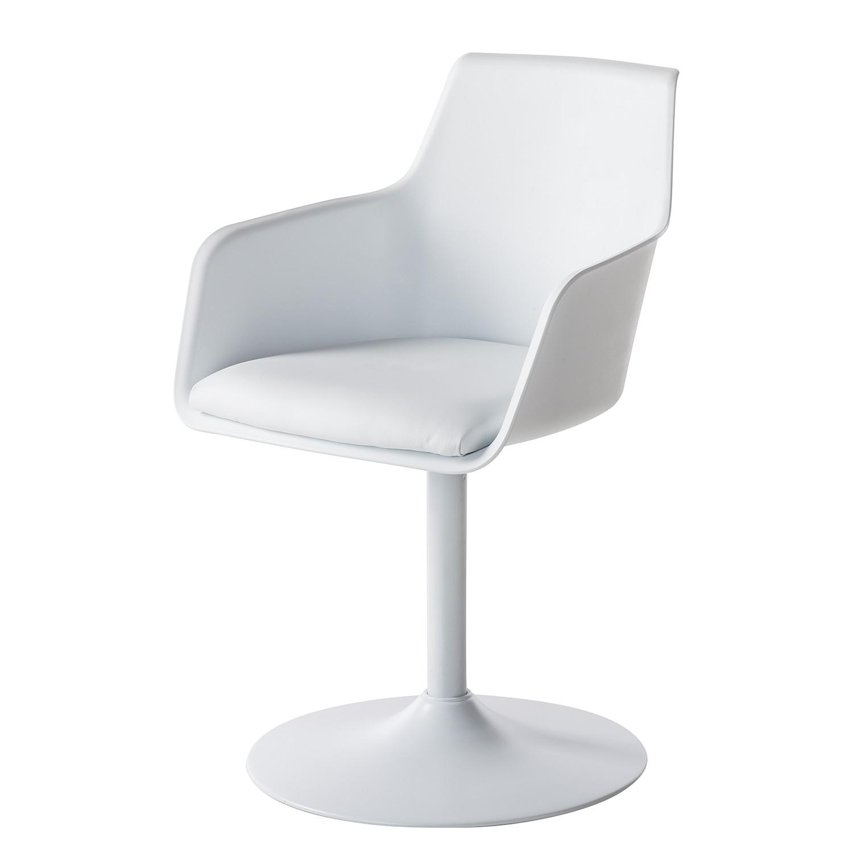 Armlehnenstuhl Beaton - Kunststoff / Metall - Weiß, Fredriks bei Home24 - Sonderangebote