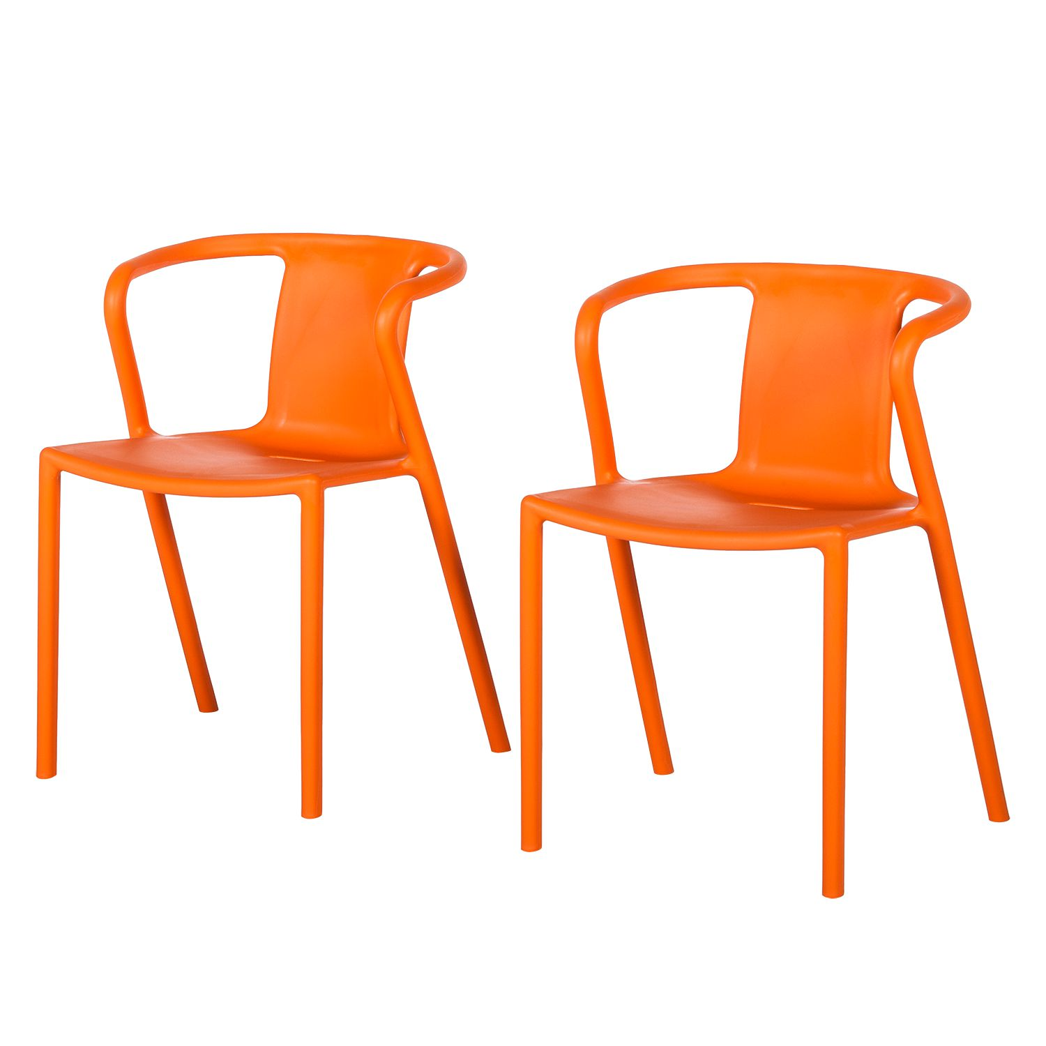 Chaise accoudoirs sit up orange fredriks meubles en ligne for Ameublement en ligne