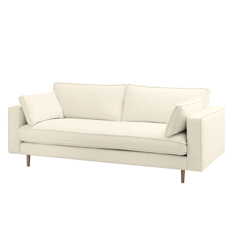 Sofa Momi (3-Sitzer) Webstoff - Stoff Moretey Cremeweiß