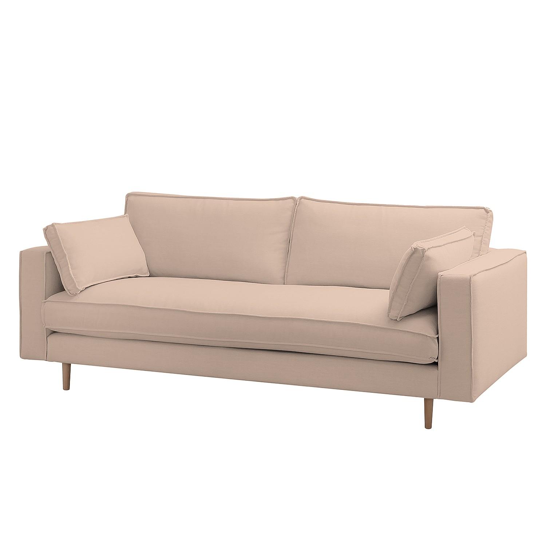 Sofa Momi (3-Sitzer) Webstoff - Stoff Moretey Rosé