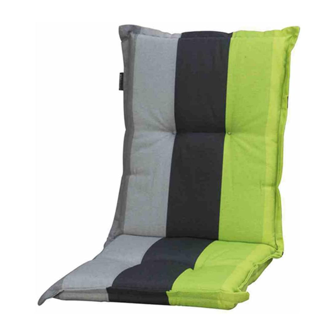 Kussen voor lage ligstoel Lars lime - geweven stof - groen/grijs, Madison