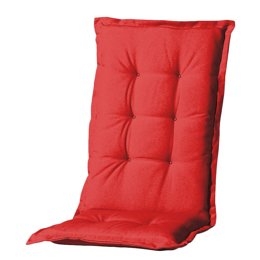 Stoelkussen Panama I (voor stoelen met hoge rugleuning) - geweven stof - Rood, Madison