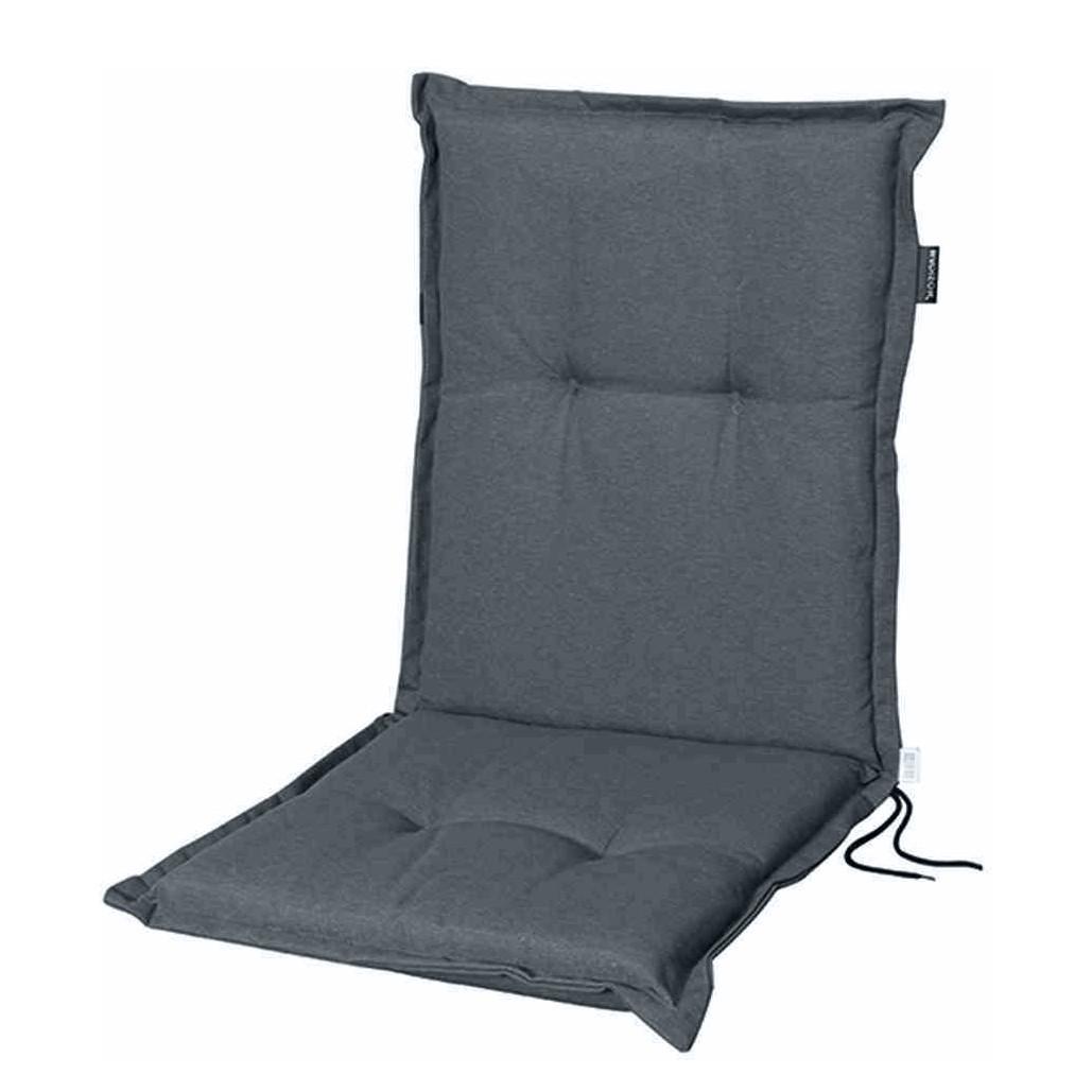 Kussen Panama I (voor lage stoelen) - geweven stof - Donkergrijs, Madison