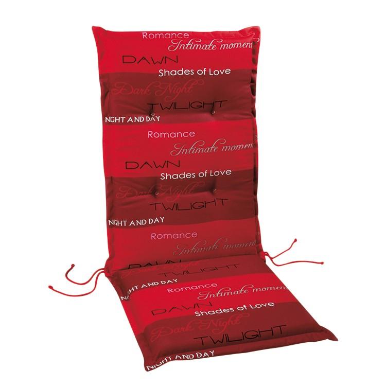 Stoelkussen Selection Line - rood gestreept - kussen voor tuinstoel - 190x60cm, Best Freizeitmöbel