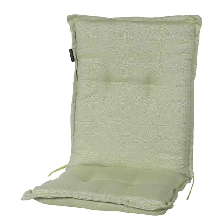 Stoelkussen Tweet olive (voor stoelen met lage rugleuning) - geweven stof, Madison