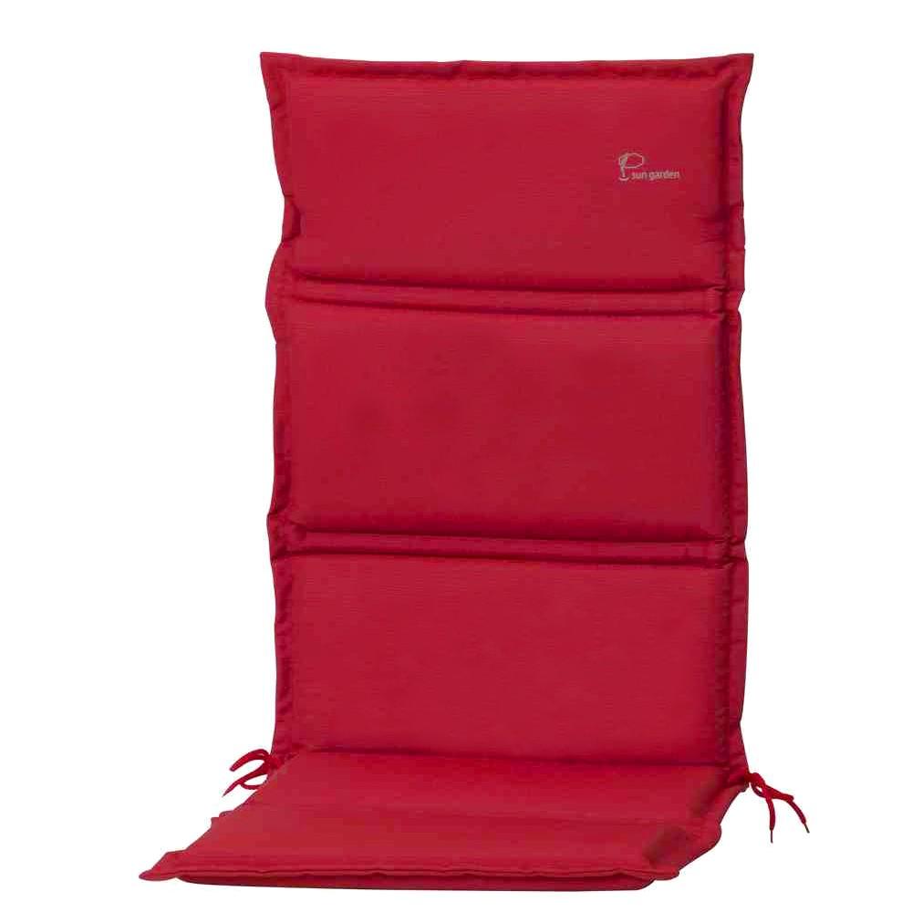 Kussen voor hoge stoelen Carla - geweven stof - Rood, Sun Garden