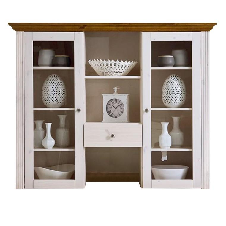 Home 24 - Haut de buffet lyngby - pin massif - blanc / lessivé, maison belfort
