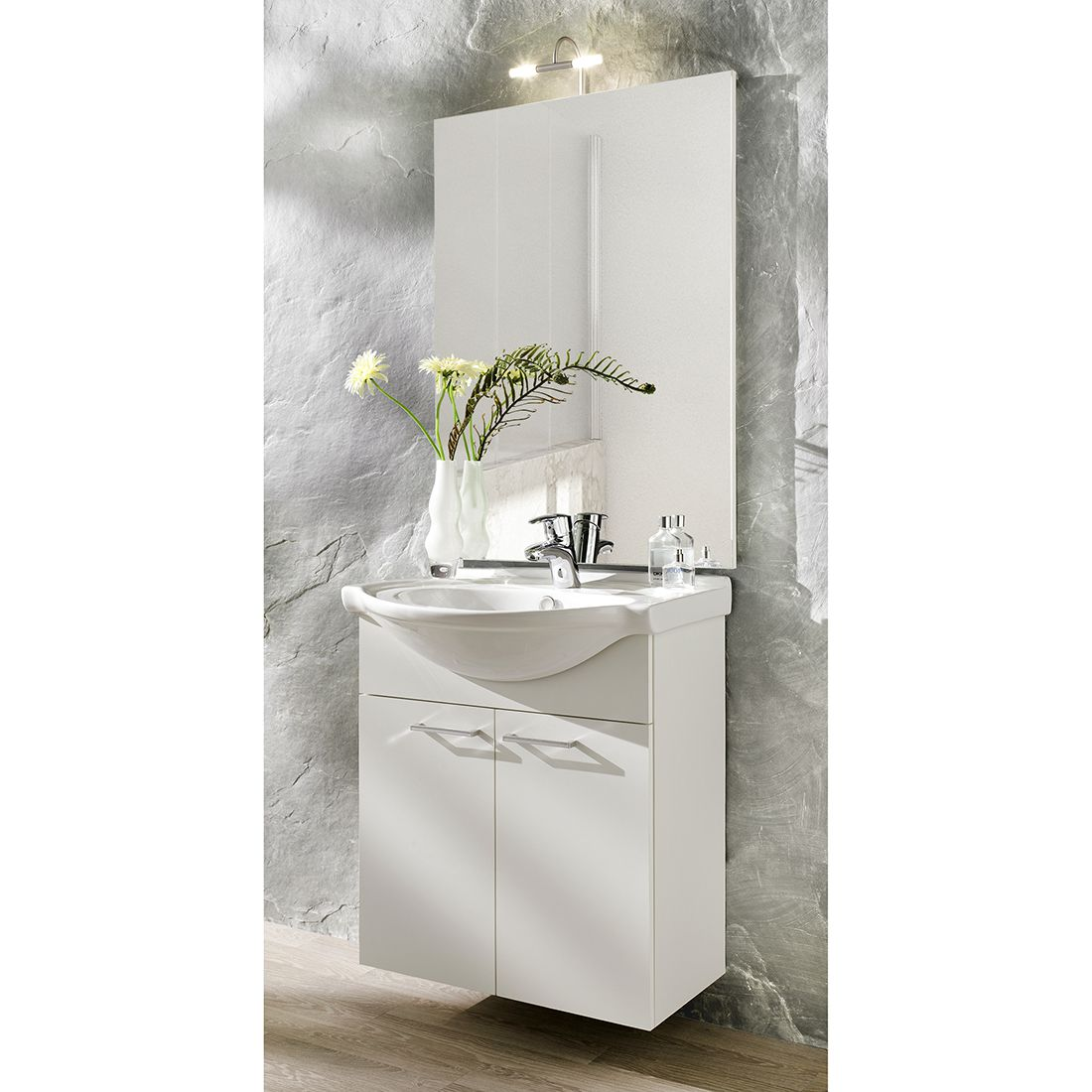Mobile lavandino Auro - piccolo, bianco, Posseik