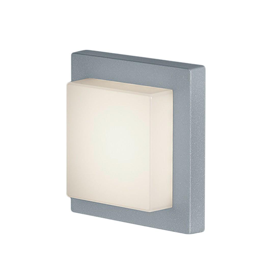 energie  A+, LED-buitenlamp Hondo - 1 lichtbron aluminium/kunststof zilverkleurig, Trio