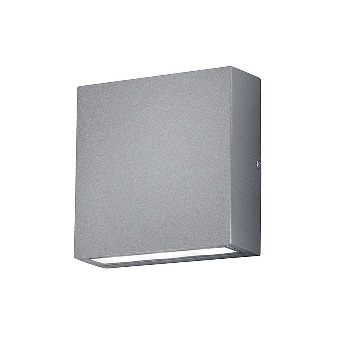 energie  A+, LED-buitenlamp Thames - aluminium/kunststof - zilverkleurig - 2 lichtbronnen, Trio