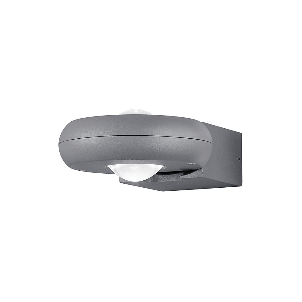 EEK A+, LED-Außenleuchte Tigris 2-flammig - Aluminium Kunststoff - Silber, Trio