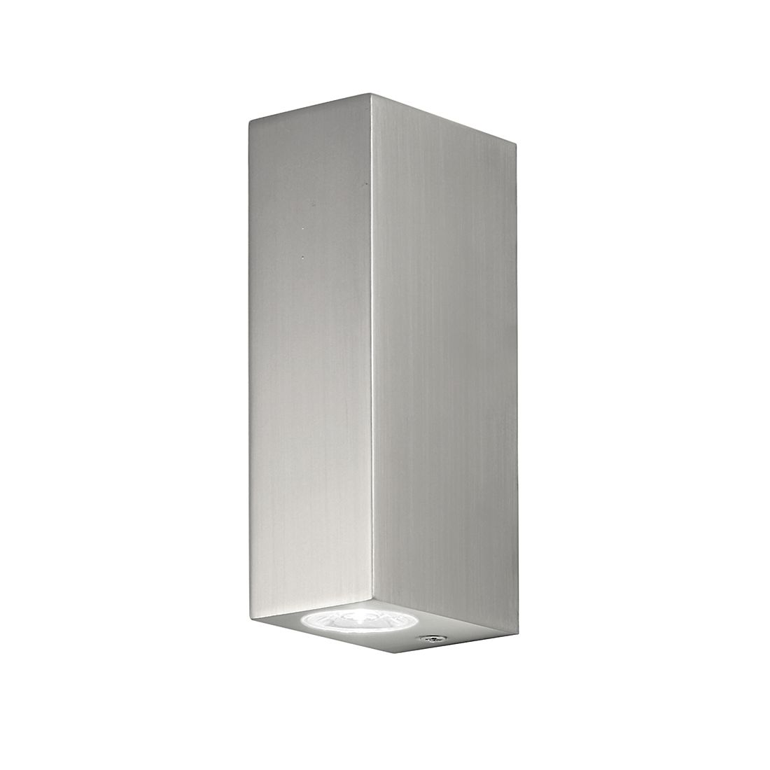 Home 24 - Eek a+, luminaire d extérieur bloc mk2 - nickel mat - 2 ampoules, illumina